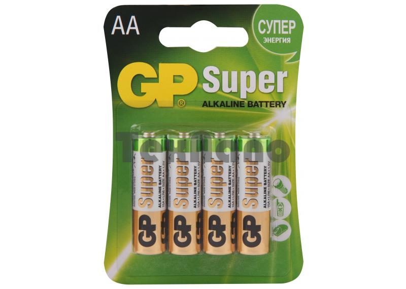 Батарейка GP LR6 BL-4 Super Alkaline (4/40/320)