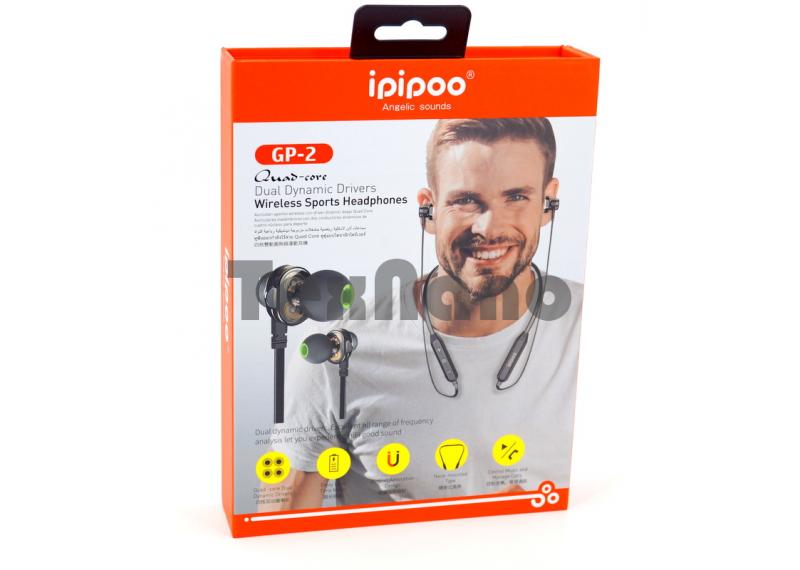 GP-2 iPiPoo Наушники с Bluetooth/FM ( Магнитные)