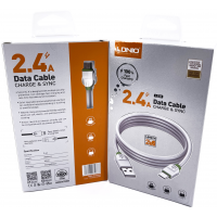 """LS33 USB Кабель Micro (Силиконовый) """"LDNIO"""" 2.4A 2000mm"""