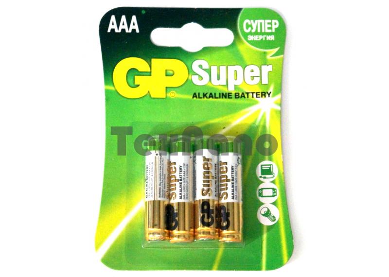 AAA Super Алкалиновые батарейки (4x10=40) (Блистер)