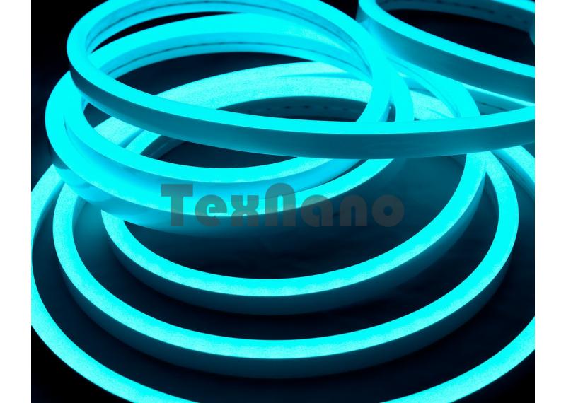 Светодиодная неоновая лента 5 метров (бирюзовая)