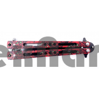 AC-K01 (Красный череп)Тренировочный ножик бабочка (22 см)