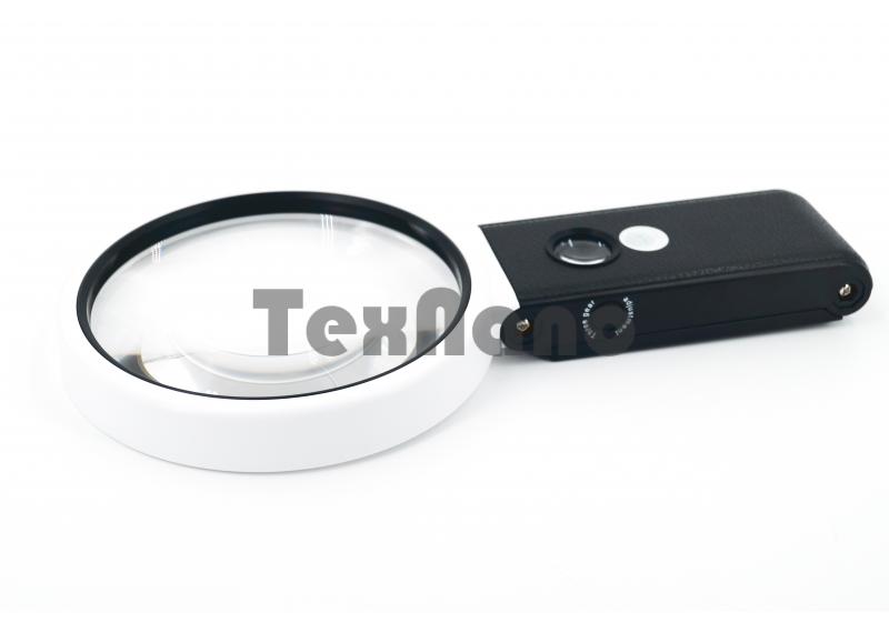 TH-7018-C 110mm Лупа ручная с 6 LED подсветкой/3.5х,25х