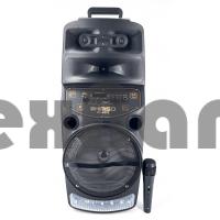 QS-6802 Колонка с USB+SD+радио+Bluetooth/ Микрофон в комплекте