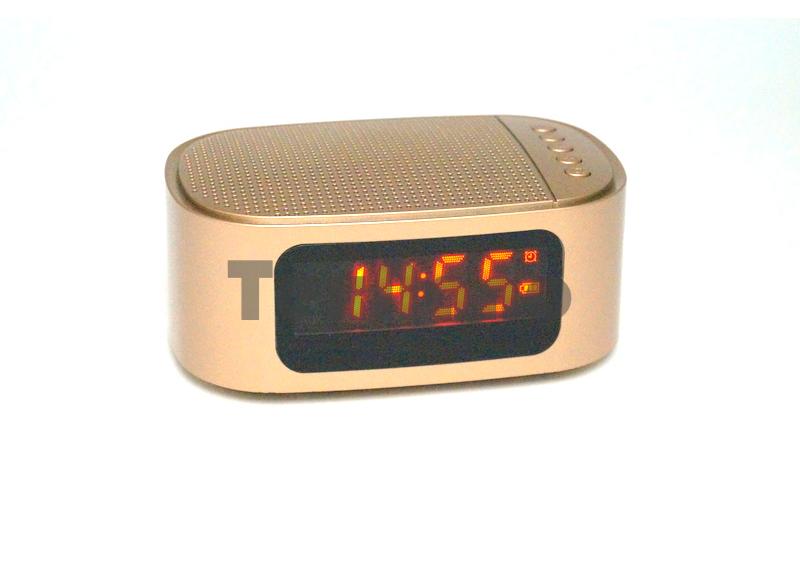 GT1 GiBOX Колонка с Bluetooth/ часы/будильник/ FM Радио/USB/SD