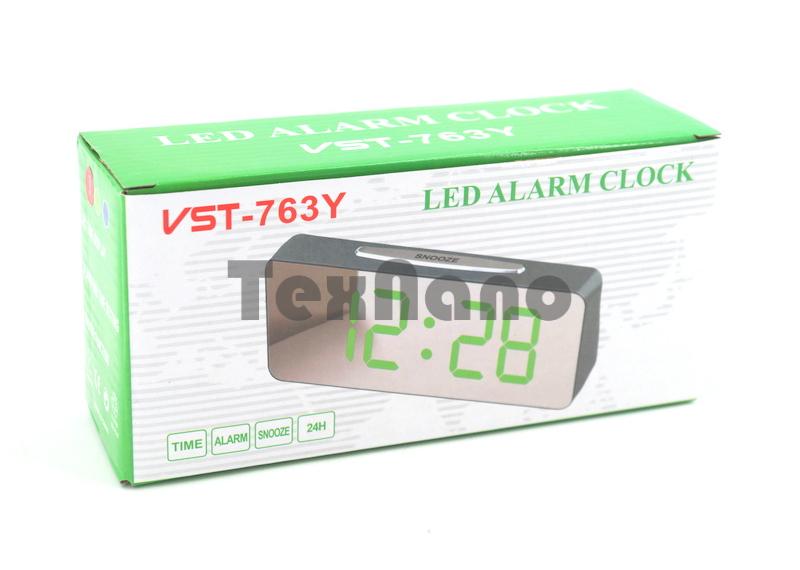VST-763Y-4 Электронные сетевые часы ( цвет свечения зеленый)