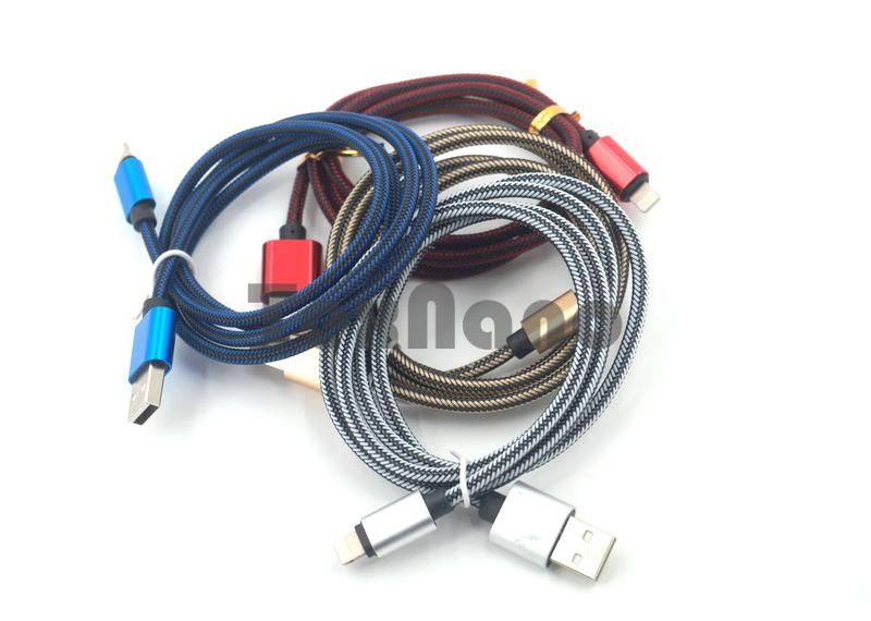 NO: 5208 USB Кабель iPhone 5/6/7 Круглый пластик( цветной)