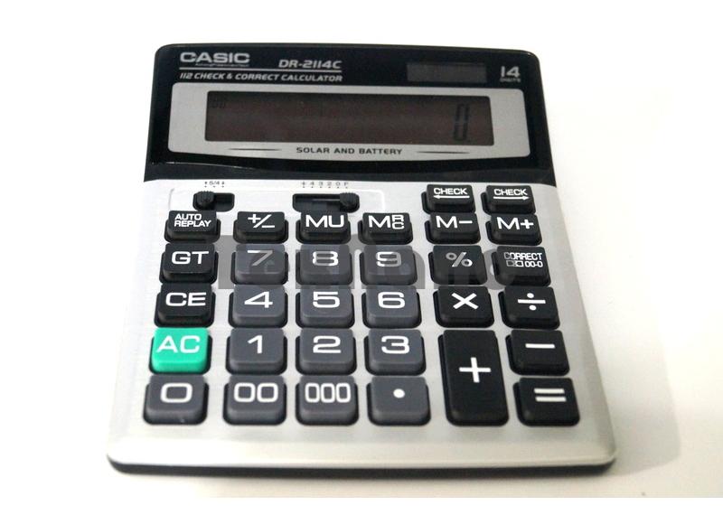 2114C 14-Разрядный калькулятор с Чеком