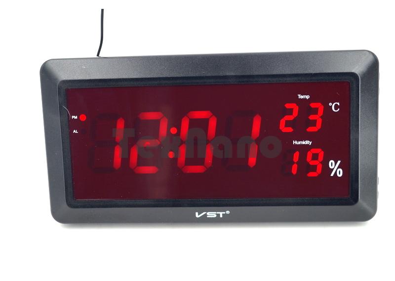 VST-780S-1 Часы электронные с температурой и влажностью. Большие на стенные, настольные.