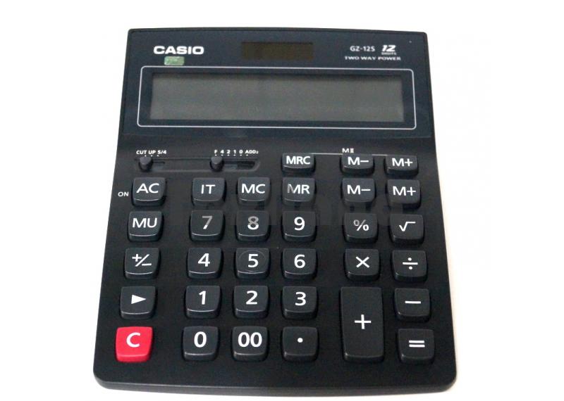 """GZ-12S  """"CASIO"""" Оригинал. Калькулятор 12-ти разрядный ( Большой )"""
