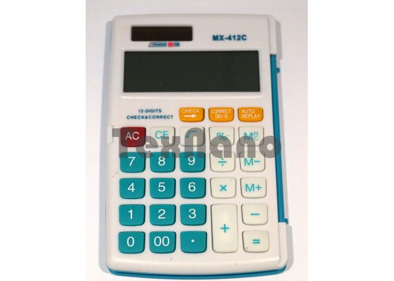 """MX-412C Калькулятор 12-ти разрядный с чеком/ """"Книжечка"""""""