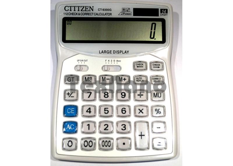 CT-9300G  2 Power 14-ти разрядный калькулятор
