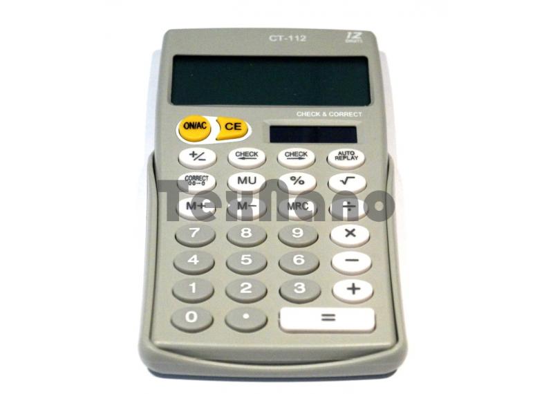 CT-112 Калькулятор 12-ти разрядный с чеком