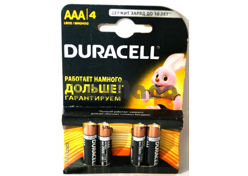 AAA батарейки  LR03 BL4 (4x10=40) ALKALINE
