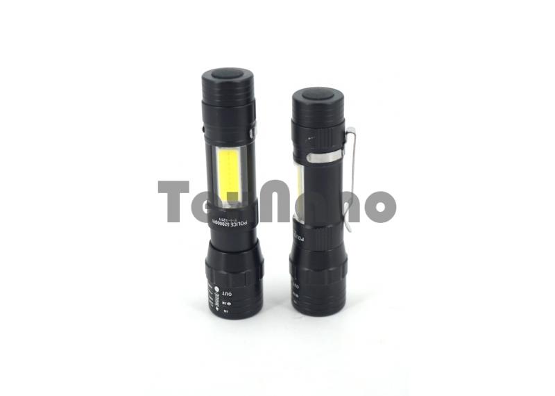 Y-I-1211 LED+COB Фонарик с зумом,Работает на одной ( батарейки АА )