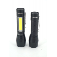 Y-I-1162 LED+COB Фонарик с зумом,Работает на одной ( батарейки АА )