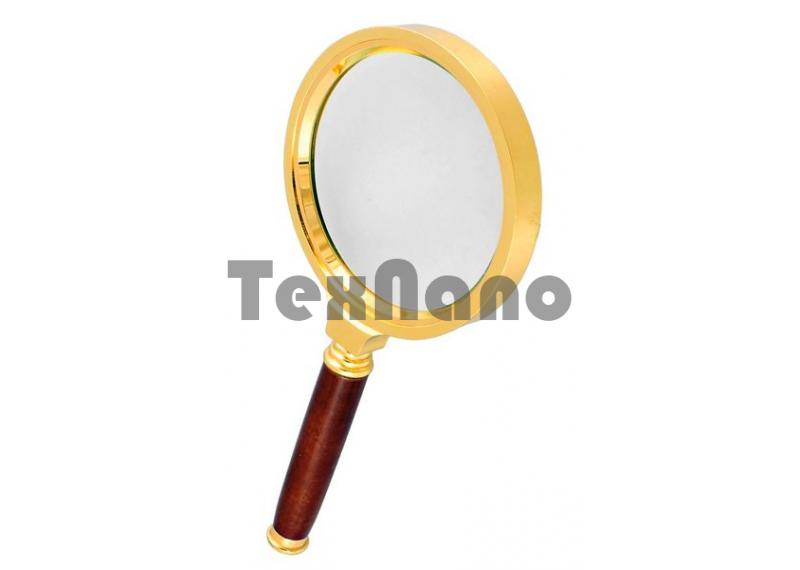 Лупа ручная круглая 6х- 80мм  (Золото )