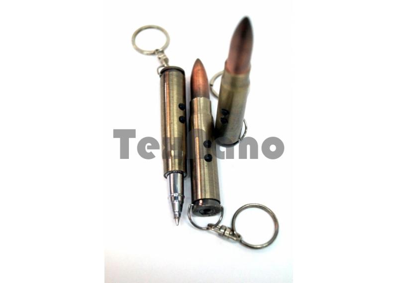 Брелок - патрон 3 в 1 Фонарик брелок с ручкой