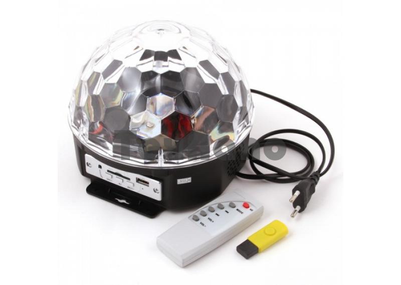 Диско шар с USB флеш проигрывателем 600F