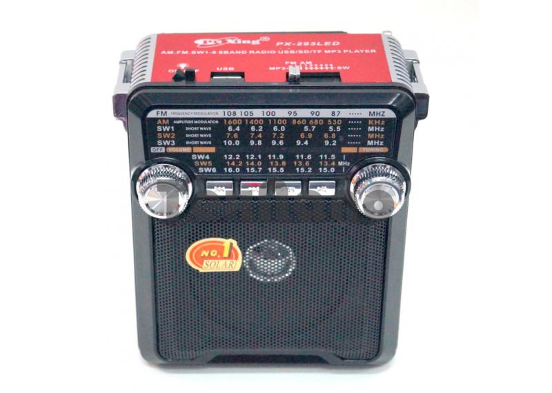 PX-295LED Радиоприемник с флеш проигрывателем